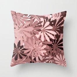 In The Tropics LIGHT PINK Throw Pillow