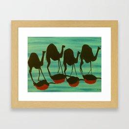 Camel Train Framed Art Print