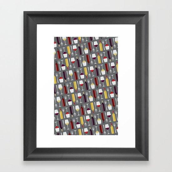 Food & Wine Framed Art Print