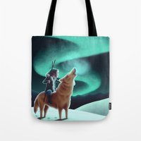 howl Tote Bags featuring Howl by slewisillustration
