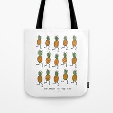 pineapples on the run Tote Bag