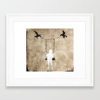led zeppelin Framed Art Prints featuring led by Seamless