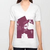robert downey jr V-neck T-shirts featuring Mr. Robert Downey Jr. by Arianrhod