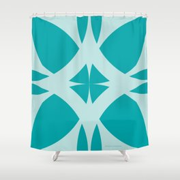 Abstract Flower Diamond - Ocean Shower Curtain
