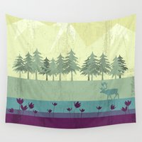 wildlife Wall Tapestries featuring Wildlife by Kakel