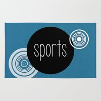 sports Area & Throw Rugs featuring SPORTS by VIAINA DESIGN