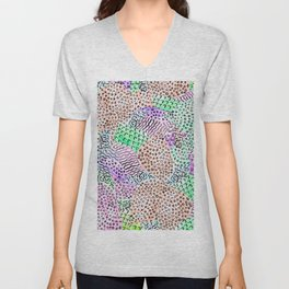 Modern abstract watercolor hand drawn pattern Unisex V-Neck
