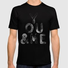 You & Me MEDIUM Black Mens Fitted Tee