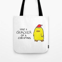 Quacker of a Christmas Tote Bag