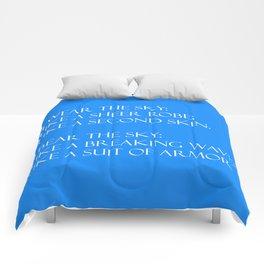 Summer air (blue) Comforters