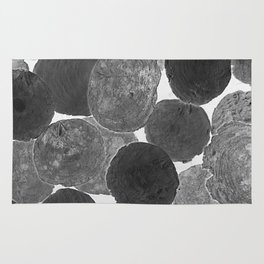 Abstract Gray Rug