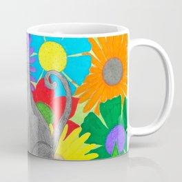 Floral Cat Coffee Mug