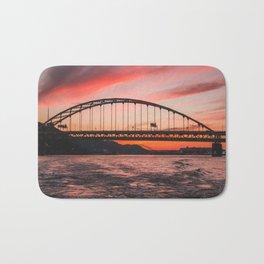 Pittsburgh City Bridges Bath Mat