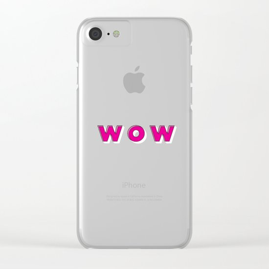 WOW Clear iPhone Case