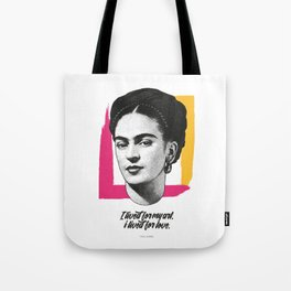 """Frida Kahlo - """"Vissi d'Arte"""" Collection - Art Print Tote Bag"""