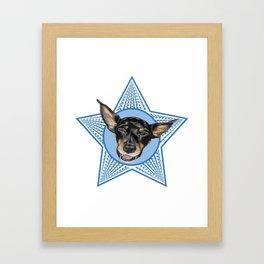 Adopt (Blue) Framed Art Print