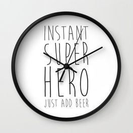 Instant Super Hero Wall Clock