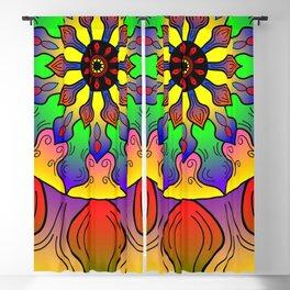 Mandala petals Blackout Curtain
