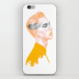 Gray area, yellow palette iPhone Skin