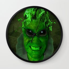 GREEN PLANET ALIEN (Us And Them) Wall Clock