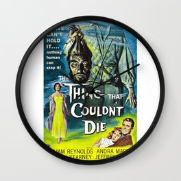 The Thing That Couldn't Die - Vintage Horror Movie Poster Wall Clock