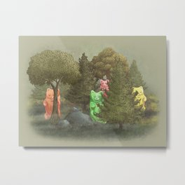 Wild Gummy Bears Metal Print