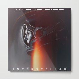 Interstellar movie cooper Metal Print