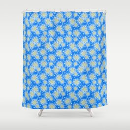 Inspirational Glitter & Bubble pattern Shower Curtain