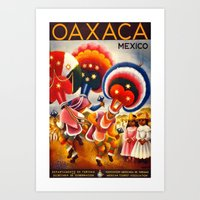 mexico Art Prints featuring MEXICO by Kathead Tarot/David Rivera