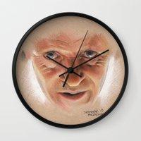 hannibal Wall Clocks featuring Hannibal  by Stephanie Nuzzolilo