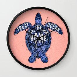 ocean omega (variant 3) Wall Clock