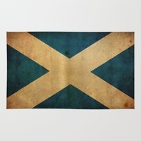 scotland Area & Throw Rugs featuring Scotland by NicoWriter
