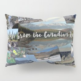 CanadianRockies Photo Collage Pillow Sham