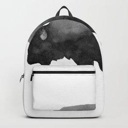 Charcoal Bison, Watercolor buffalo Backpack