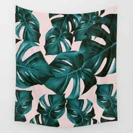 Monstera Leaves Pattern #4 #tropical #decor #art #society6 Wall Tapestry