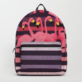 FUN STRIPES WITH FLAMINGOS Backpack