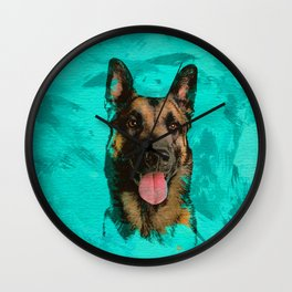 Malinois - Belgian shepherd -Mechelaar -Maligator Wall Clock