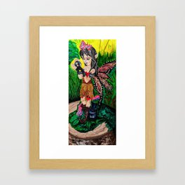 Monarch Woodland Fairy Framed Art Print