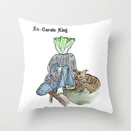 es-carole king Throw Pillow