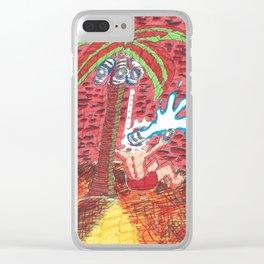 Coconut Paints Clear iPhone Case