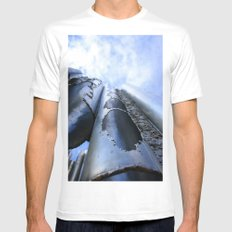 Pipe Down White MEDIUM Mens Fitted Tee