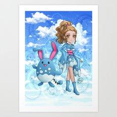 Furisode Marill Art Print