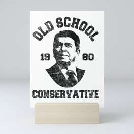 Republican Shirt Old School Conservative Ronald Reagan 1980 Mini Art Print