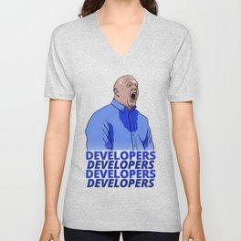 Steve Ballmer: Developers Developers! Unisex V-Neck