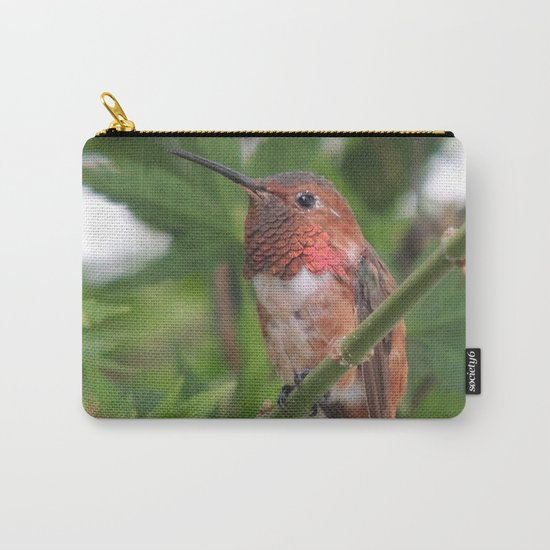 Hummingbird in the Japanese Maple Carry-All Pouch