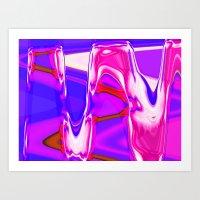 Nixo Abstract A77 Art Print