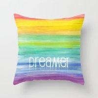 dreamer Throw Pillows featuring Dreamer by micklyn