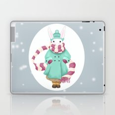 Bunny Sister Out On a Winter Day Laptop & iPad Skin
