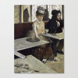 The Absinthe Drinker by Edgar Degas Canvas Print