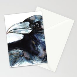 Raven, Watercolor Stationery Cards